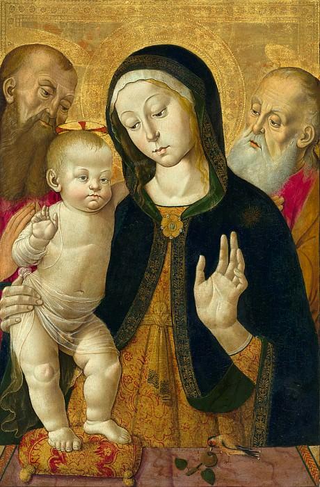 Фунгаи Бернардино (Сиена 1460-1516) - Мадонна с младенцем и двое святых отшельников (68х45 см) 1480-85. Музей Гетти
