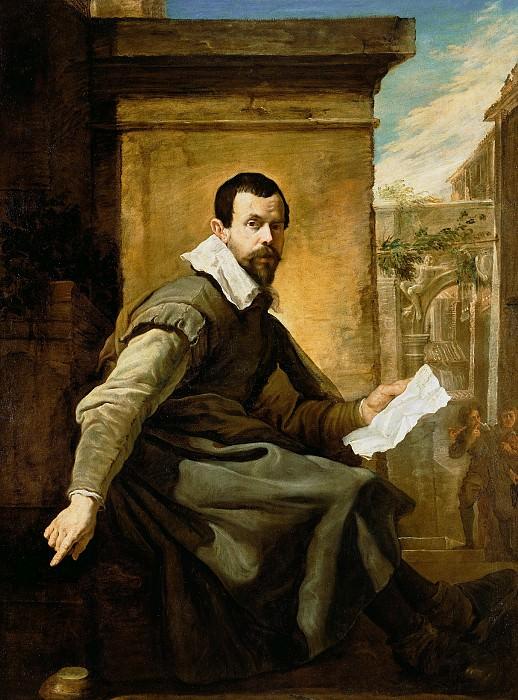 Фетти Доменико (ок1589 Рим - 1623 Венеция) - Портрет мужчины с нотами (173х130 см) ок1620. J. Paul Getty Museum