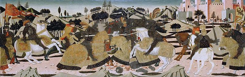 Скеджа (Джованни ди сер Джованни Гвиди) (1406 Сан Джованни Вальдарно - 1486 Флоренция) - Сцена битвы (42х130 см) 1450-75. J. Paul Getty Museum