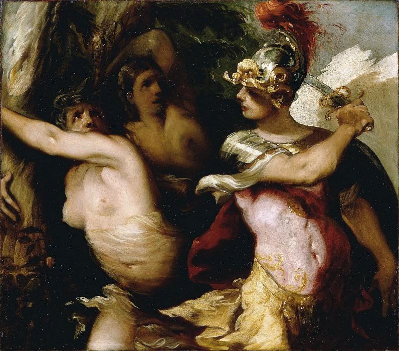 Маффеи Франческо (ок1600 Виченца - 1660 Падуя) - Ринальдо в волшебном лесу (30х34 см) 1650-55. Музей Гетти