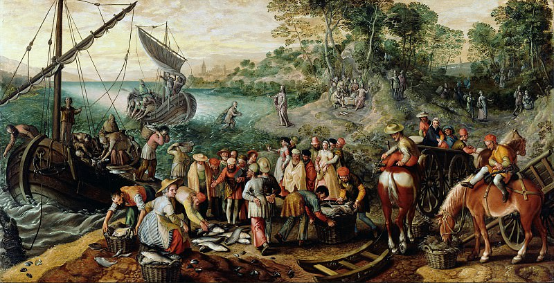 Бекелар Иоахим (Антверпен ок1534-1574) - Чудесный улов (110х211 см) 1563. J. Paul Getty Museum