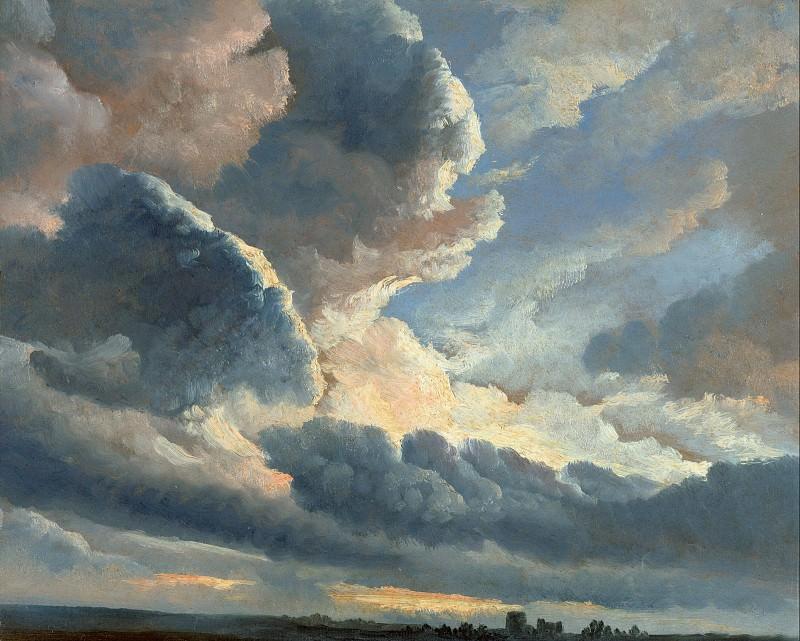 Дени Симон-Жозеф-Александр (1755 Антверпен - 1813 Неаполь) - Штудия облаков с расветом близ Рима ( см) 1786-01. J. Paul Getty Museum