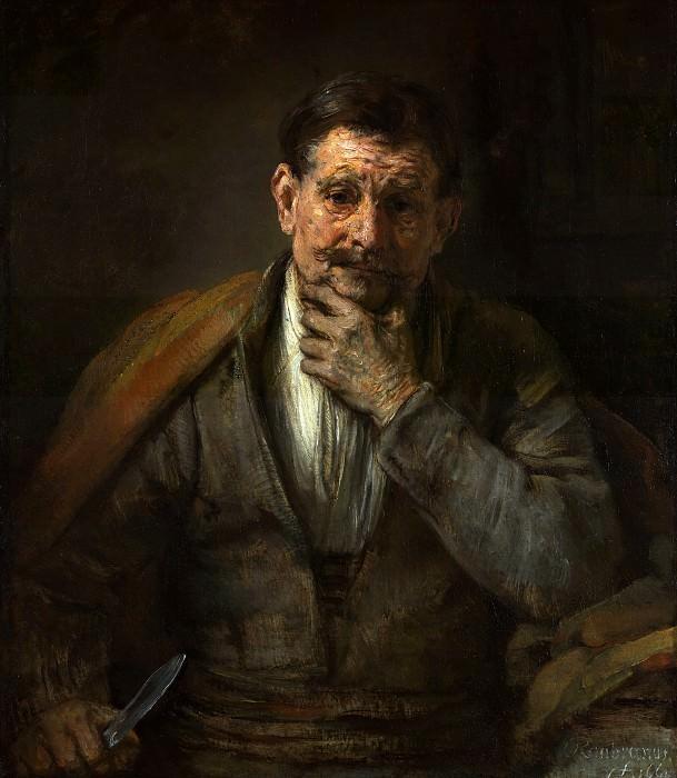 Рембрандт Харменс ван Рейн (1606 Лейден - 1669 Амстердам) - Св Варфоломей (86х75 см) 1661. J. Paul Getty Museum
