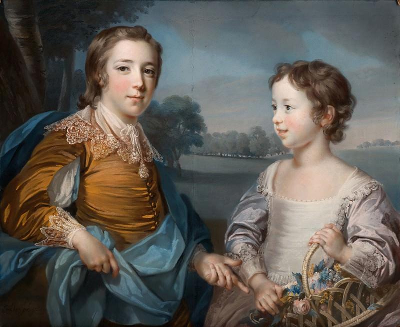 Коутс Френсис (1726 Лондон - 1770 Ричмонд) - Джозеф Гальстон с братом Джоном (67х82 см) 1754. J. Paul Getty Museum