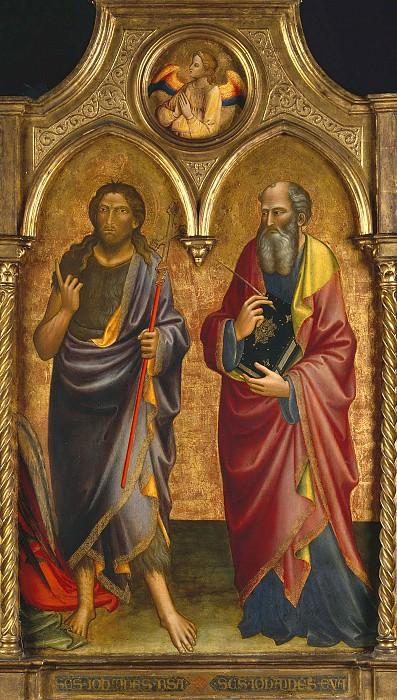 Мариотто ди Нардо (раб во Флоренции 1394-1424) - Иоанн Креститель и Иоанн Евангелист (99х76 см) 1408. Музей Гетти