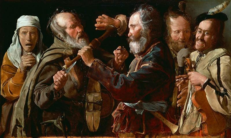 Georges de La Tour - Rixe de musiciens, 1625-1630. J. Paul Getty Museum