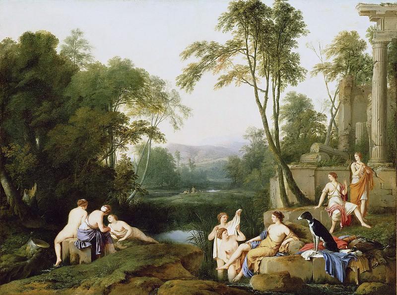 Ла Ир Лорен де (Париж 1606-1656) - Пейзаж с Дианой и нимфами (101х134 см) 1644. Музей Гетти