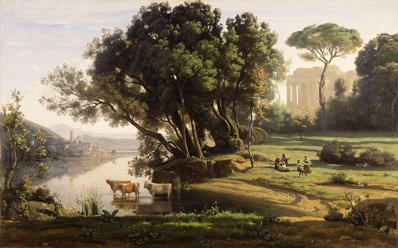 Коро Жан-Батист-Камиль (Париж 1796-1875) - Итальянский пейзаж в Леванте (63х101 см) ок1835. J. Paul Getty Museum