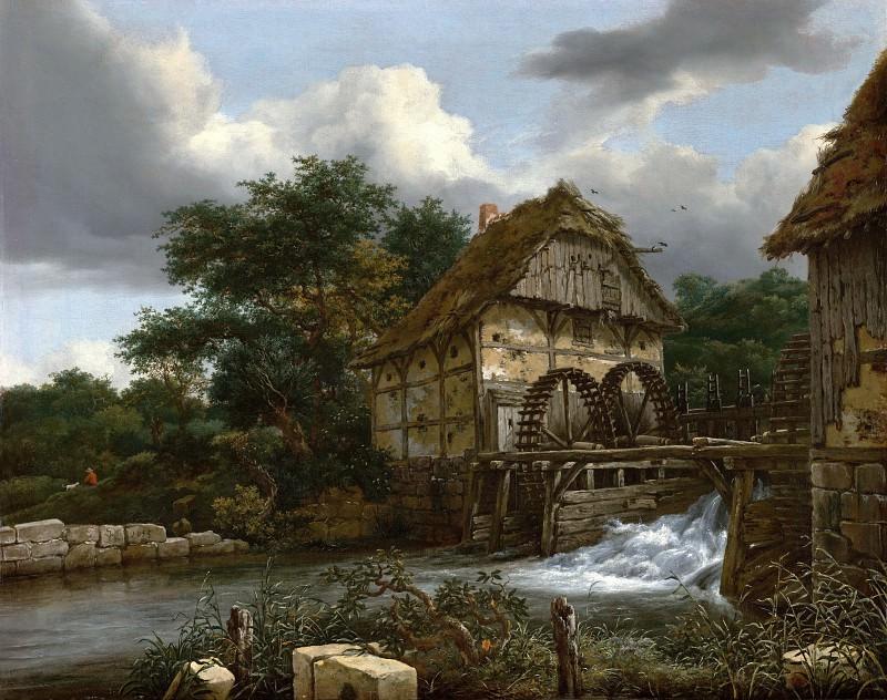 Рейсдаль Якоб Исакс ван (1628-29 Харлем - 1682 Амстердам) - Водяная мельница (64х84 см) 1653. Музей Гетти