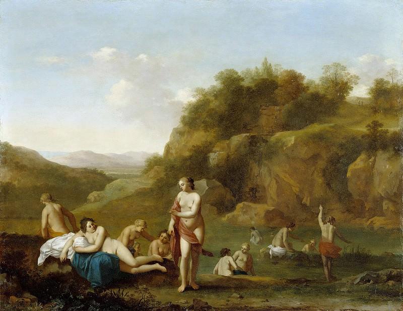 Пуленбург Корнелис ван (Утрехт 1586-1667) - Пейзаж с купальщицами (33х44 см). J. Paul Getty Museum