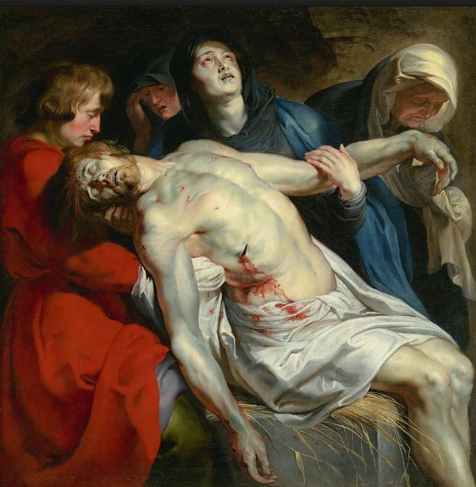 Рубенс Питер Пауль (1577 Зиген - 1640 Антверпен) - Положение во гроб (131х130 см) ок1612. J. Paul Getty Museum
