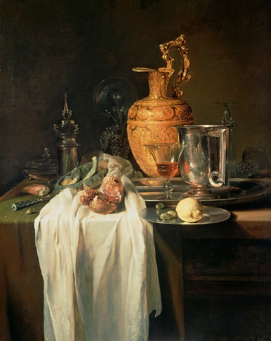 Кальф Виллем (1622 Роттердам - 1693 Амстердам) - Натюрморт (103х81 см) 1640-45. J. Paul Getty Museum