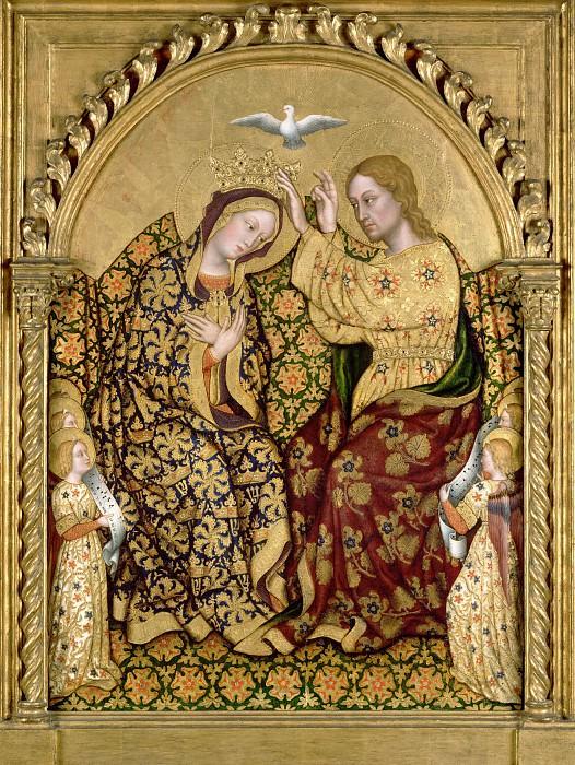 Джентиле да Фабриано (ок1370 Фабриано - 1427 Рим) - Коронование Марии (88х64 см) ок1420. J. Paul Getty Museum