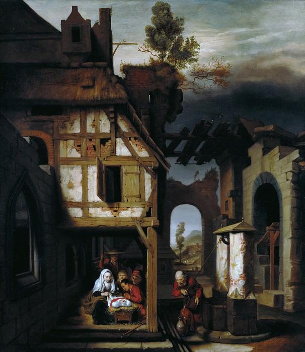 Мас Николас (1634 Дордрехт - 1693 Амстердам) - Поклонение пастухов (120х96 см) ок1660. J. Paul Getty Museum