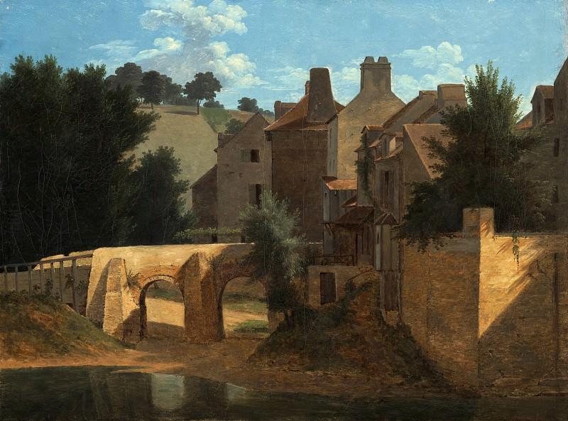 Бертен Жан-Виктор (Париж 1767-1842) - Вид в Иль-де-Франс (35х48 см) 1810-13. J. Paul Getty Museum