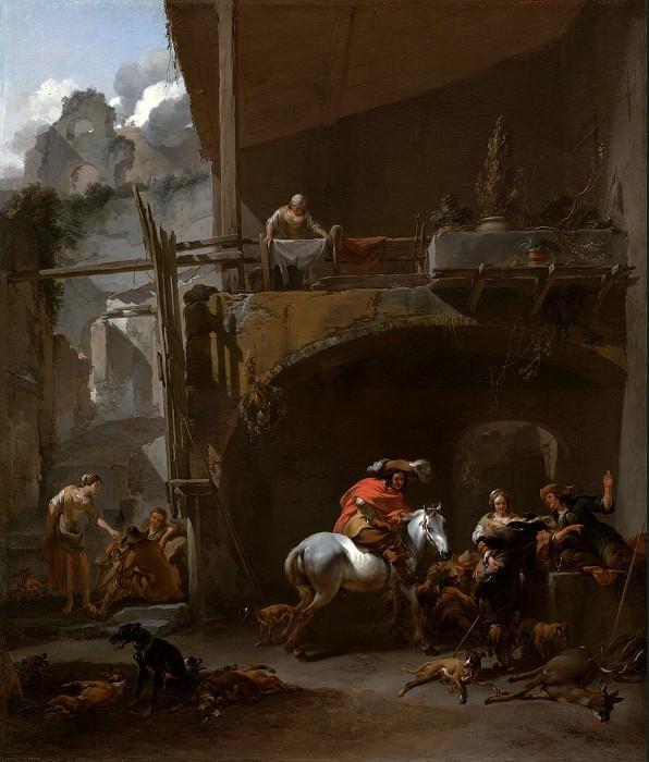 Берхем Николас Питерс (1620 Харлем - 1683 Амстердам) - Возвращение с охоты (75х63 см) 1660-е. J. Paul Getty Museum