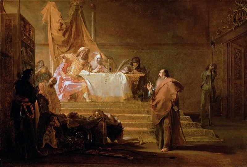 Кнюпфер Николас (1603 Лейпциг - 1655 Утрехт) - Солон и Крез (61х90 см) 1650-52. Музей Гетти