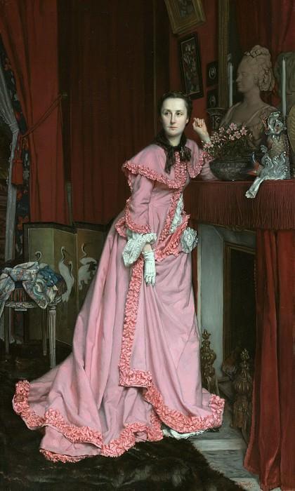 Тиссо Жак-Жозеф (1836 Нанси - 1902 Буйон) - Портрет маркизы Мирамон, урожденная Тереза Фейан (128х76 см) 1866. J. Paul Getty Museum