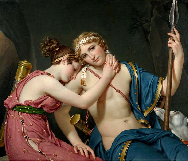 The Farewell of Telemachus and Eucharis. Jacques-Louis David