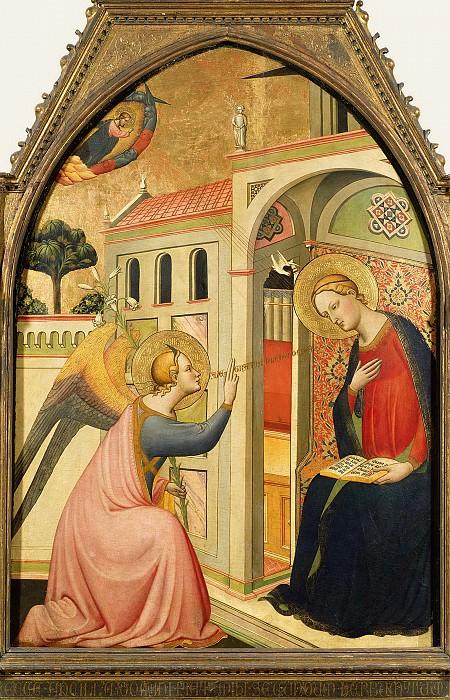 Томмазо дель Мацца (раб во Флоренции ок 1370-1415) - Благовещение (128х92 см) 1390-95. J. Paul Getty Museum