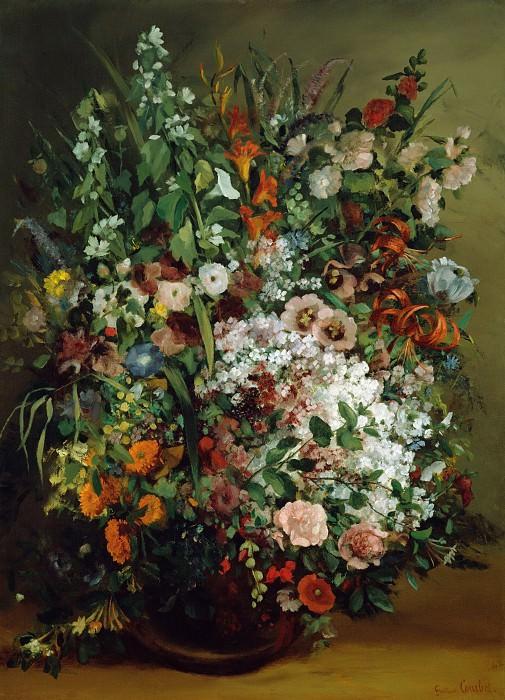 Курбе Гюстав (1819 Орнан - 1877 Ла Тур де Пейлц близ Веве, Швейцария) - Букет цветов в вазе (100х73 см) 1862. J. Paul Getty Museum