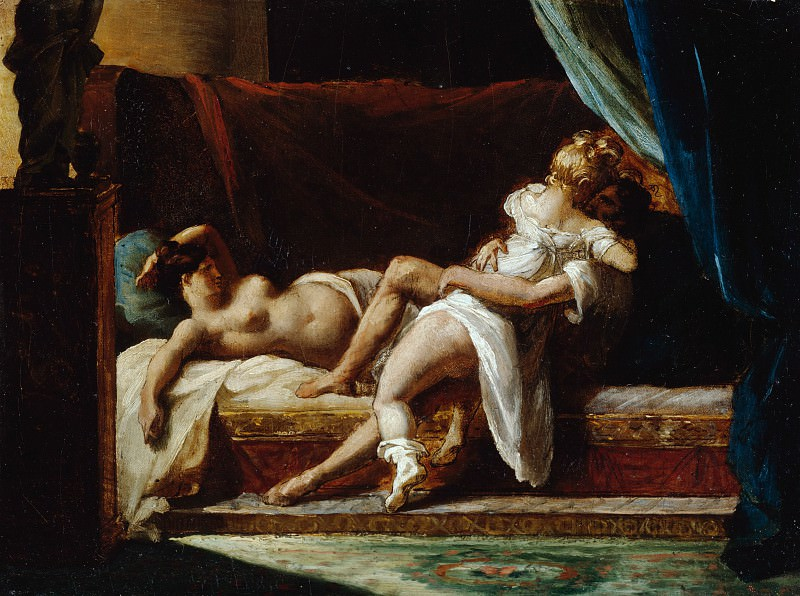 Жерико Теодор (1791 Руан - 1824 Париж) - Три любовника (22х30 см) 1817-20. J. Paul Getty Museum
