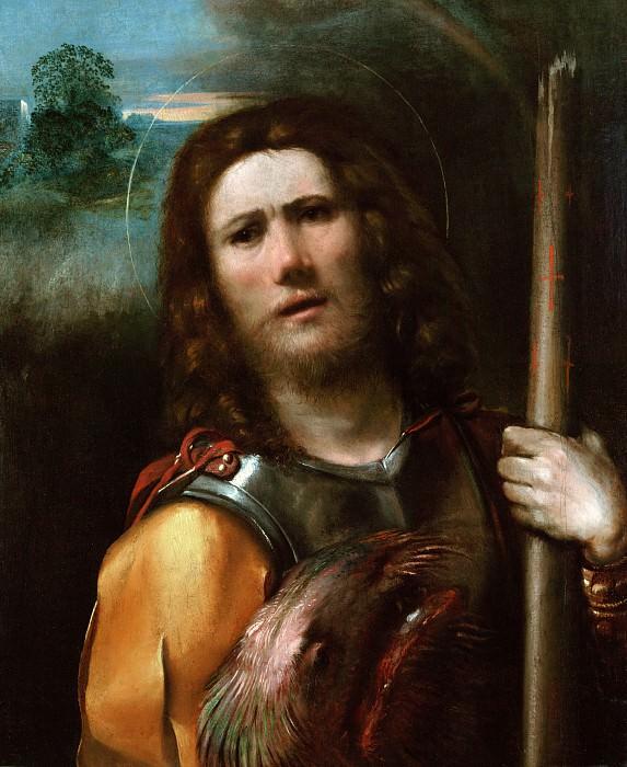 Досси Доссо (Джованни ди Лутеро) (Феррара ок1489 - 1542) - Св Георгий (70х61 см) 1513-15. J. Paul Getty Museum