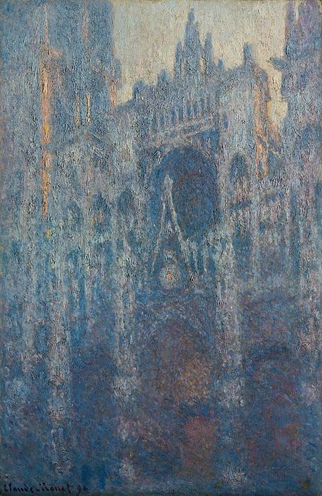Моне Клод-Оскар (1840 Париж - 1926 Живерни) - Портал руанского собора в утреннем свете (100х65 см) 1894. Музей Гетти