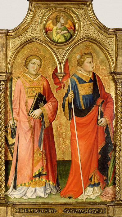 Мариотто ди Нардо (раб во Флоренции 1394-1424) - Свв Лаврентий и Стефан (99х76 см) 1408. J. Paul Getty Museum