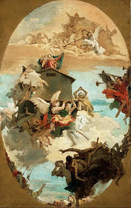 Тьеполо Джованни Баттиста (1696 Венеция - 1770 Мадрид) - Чудо Святого Дома Богородицы в Лорето (123х77 см) 1743. J. Paul Getty Museum