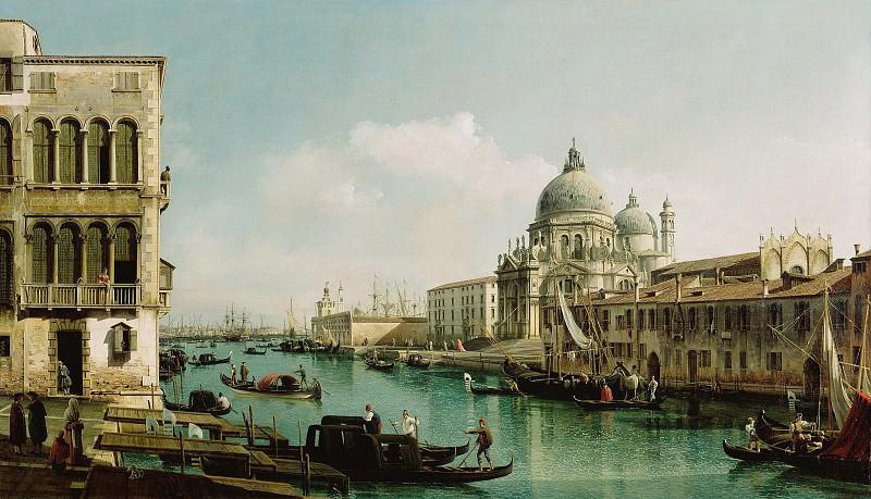 Беллотто Бернардо (1720 Венеция - 1780 Варшава) - Большой канал и догана в Венеции (135х231 см) ок1740. J. Paul Getty Museum