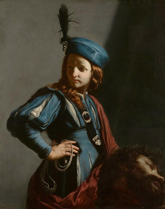 Каньяччи Гвидо (1601 Сан-Арканджело ди Романья - 1682 Вена) - Давид с головой Голиафа (108х85 см) 1645-50. J. Paul Getty Museum