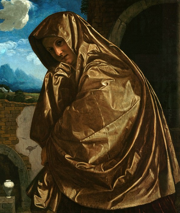 Савольдо Джованни Джироламо (ок1480 Брешиа - п1548 Венеция) - Мария Магдалина в Храме Гроба Господня (99х80 см) 1530-е. J. Paul Getty Museum
