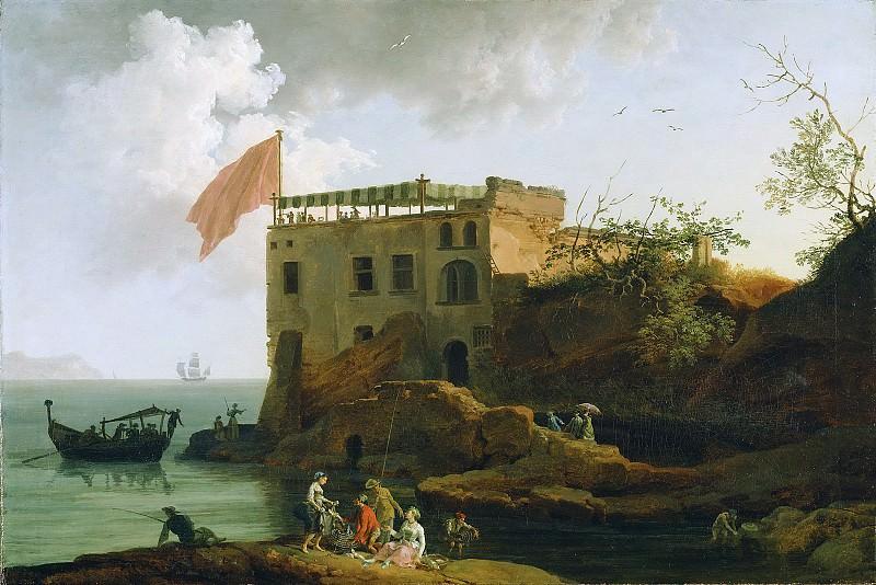 Волер Пьер-Жак-Антуан (1729 Тулон - 1802 Неаполь) - Вид Гайолы (66х96 см) 1770-90. J. Paul Getty Museum