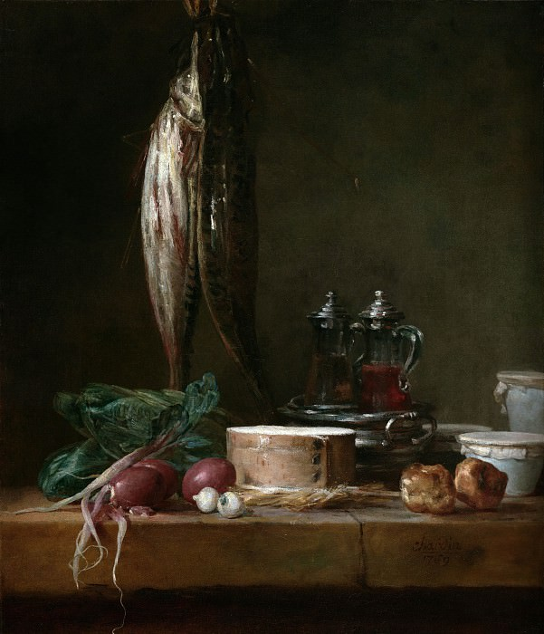 Still Life with Fish and Vegetables on a Table. Jean Baptiste Siméon Chardin