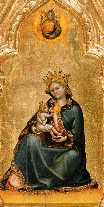 Гварьенто дАрпо (работал в 1338-68 в Падуе) - Мадонна смирения (33х17 см) 1345-50. J. Paul Getty Museum