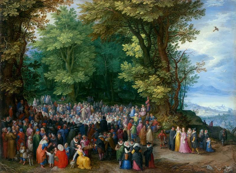Брейгель Ян I (Бархатный) (1568 Брюссель - 1625 Антверпен) - Проповедь Иоанна Крестителя (27х37 см) 1598. J. Paul Getty Museum