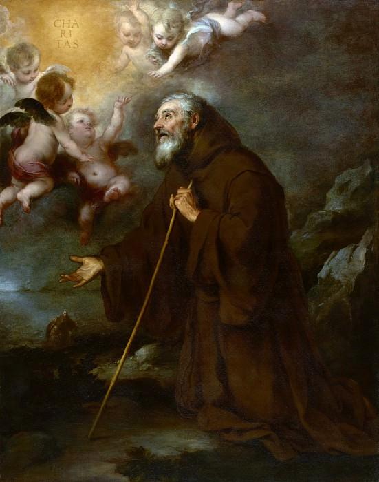 Мурильо Бартоломе Эстебан (Севилья 1617-1682) - Видение св Франциска из Паолы (188х146 см) ок1670. J. Paul Getty Museum