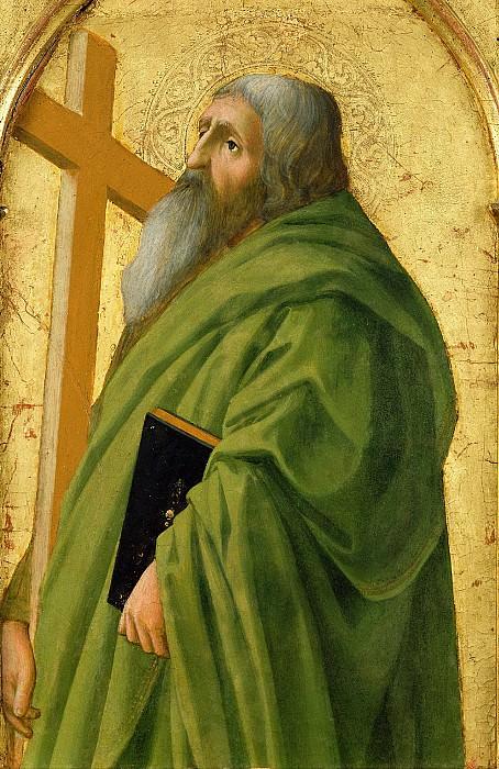 Мазаччо (Томмазо Кассаи) (1401 Сан Джованни Вальдарно - 1428 Рим) - Св Андрей (52х32 см) 1426. J. Paul Getty Museum