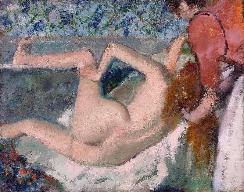 Дега Эдгар (Париж 1834-1917) - После купания (65х81 см) ок1895. J. Paul Getty Museum
