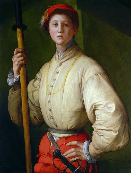 Понтормо Якопо (1494 Понтормо - 1557 Флоренция) - Алебардщик (92х72 см) 1528-30. Музей Гетти