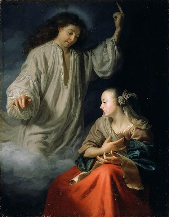 Шалькен Годфрид (1643 Дордрехт - 1706 Гаага) - Благовещение (26х20 см) 1660-65. J. Paul Getty Museum