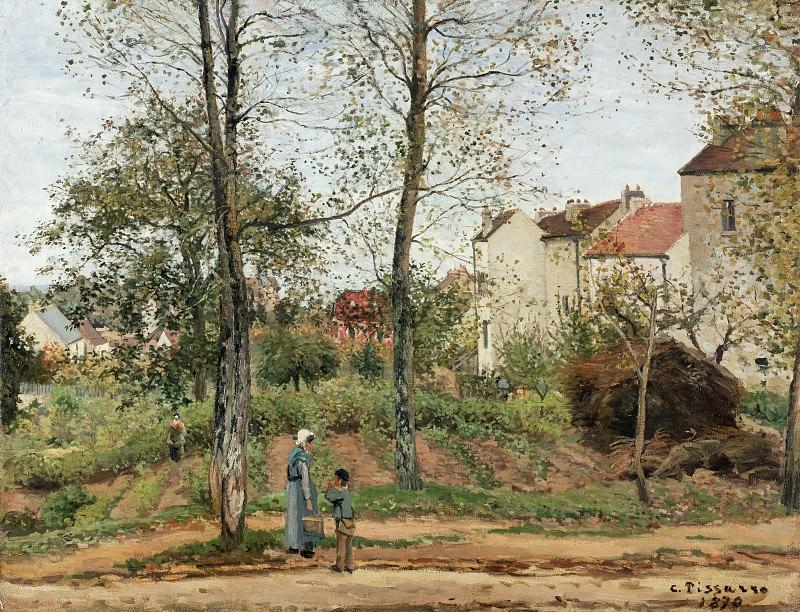 Писсарро Камиль (1830 о-в Сен-Тома (Вест-Индия) - 1903 Париж) - Пейзаж в Лувесьенне (осень) (90х116 см) 1870. J. Paul Getty Museum