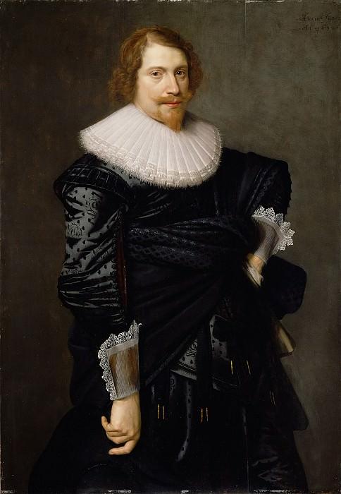 Пикеной Николас Элиас (Амстердам 1588-ок1655) - Мужской портрет (122х85 см) 1632. Музей Гетти