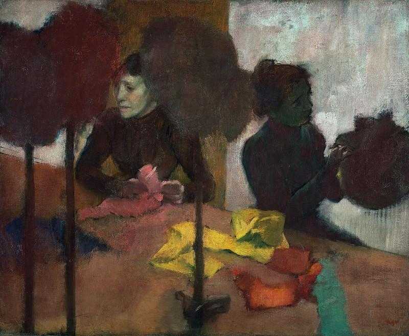 Дега Эдгар (Париж 1834-1917) - Модистки (60х75 см) 1882-1905. Музей Гетти