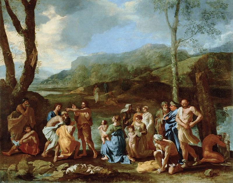 Saint John Baptizing in the River Jordan. Nicolas Poussin
