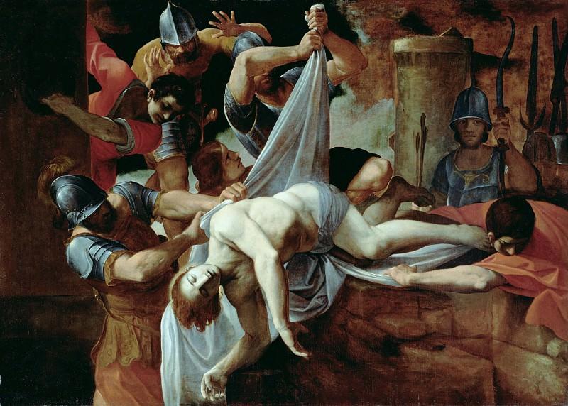 Карраччи Лодовико (Болонья 1555-1619) - Тело св Себастьяна сбрасывают в клоаку Максима (188х257 см) 1612. J. Paul Getty Museum