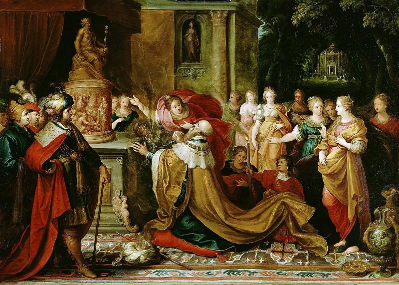 Франкен Франс II (Антверпен 1581-1642) - Идолопоклонничество Соломона (77х109 см) 1622. J. Paul Getty Museum