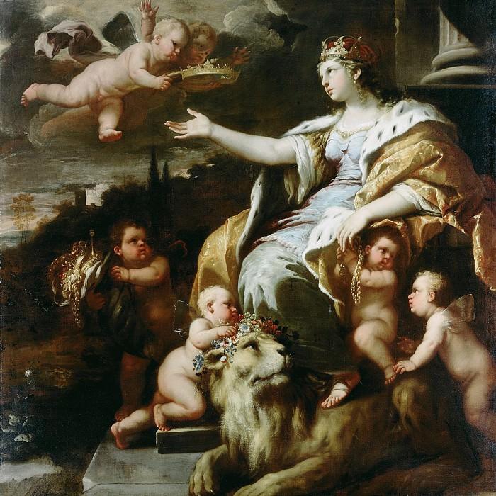 Джордано Лука (Неаполь 1632-1705) - Аллегория (180х180 см) ок1670. Музей Гетти