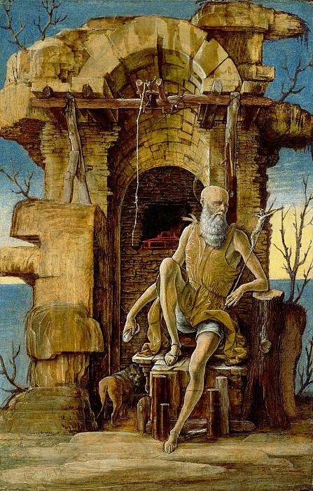 Эрколе де Роберти (Феррара ок1451-56 - 1496) - Св Иероним в пустыне (34х22 см) ок1470. Музей Гетти